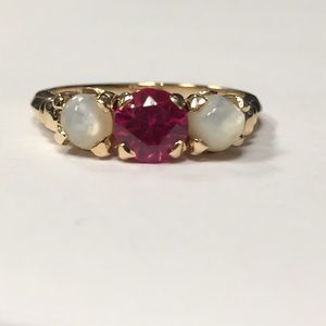 Vintage 14k ruby ring